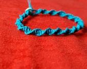 Teal Blue Spiral Macrame Bracelet - Handmade Accessories for Women and Children - AutumnsItems