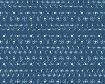 Linked with Night 100% premium cotton, fabric by the Yard Art Gallery Bike fabric