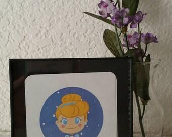"""Cinderella Mini 3x3"""" Bristol Digital Print"""