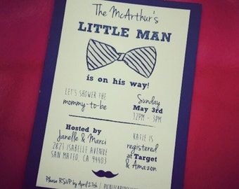 "A ""little man"" is on his way baby shower!"
