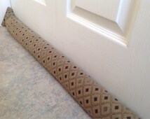 long upholstery door draft stopper Long draught stopper draft excluders home decor energy saver shabby chic Upholstery fabric