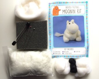 Moomin kit make your own needle felted moomin