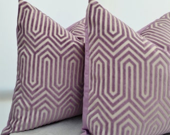 RESERVED,Lavender  Pillow Cover,Lavender Velvet Pillow Cover, Purple Velvet Pillow Cover,Velvet Geometric Pillow,Purple Pillow Cover