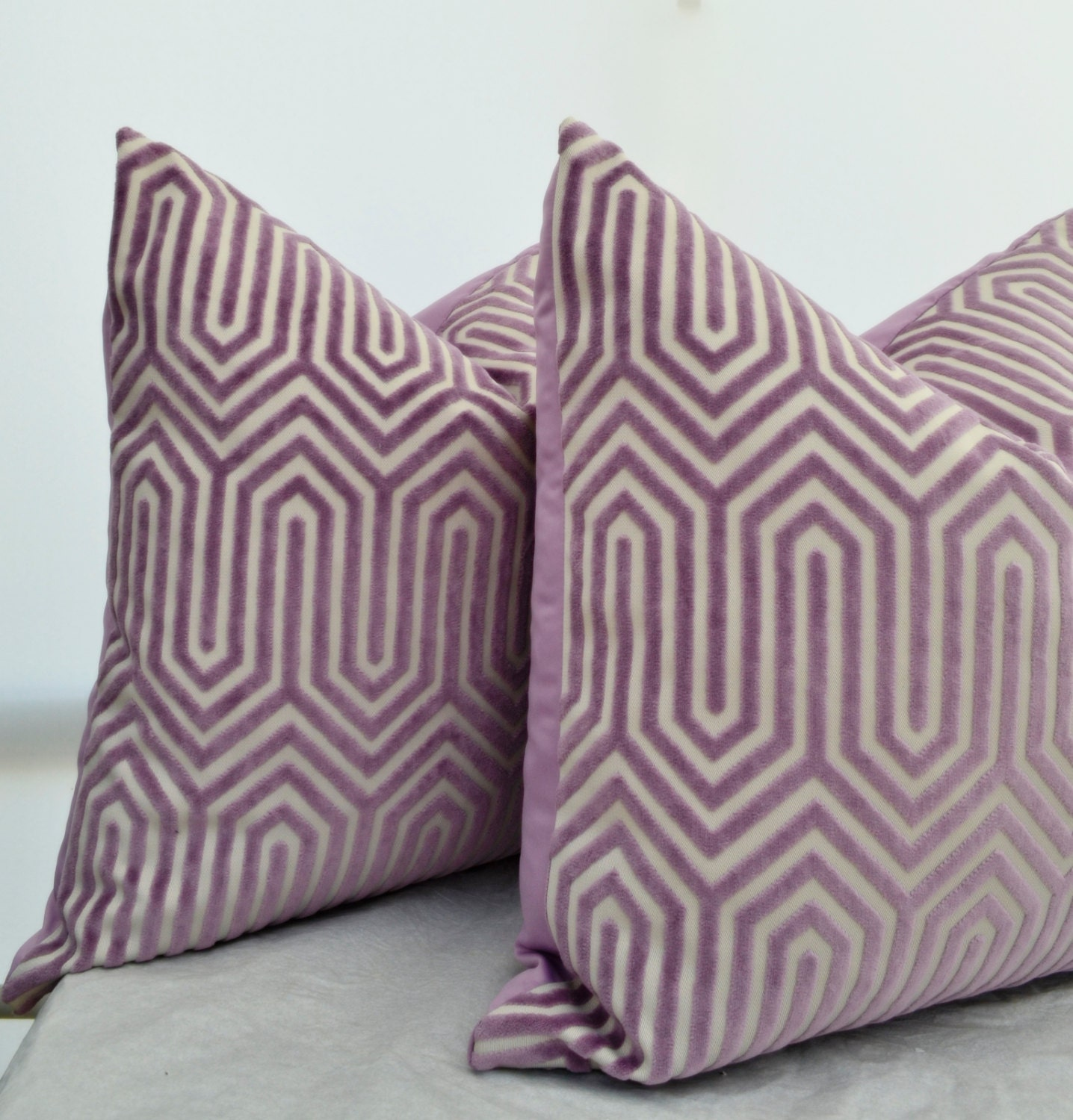 Lavender Pillow CoverLavender Velvet Pillow Cover Purple