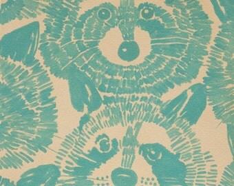 Alexander Henry - Rocky Raccoon - #8437B - Turquoise