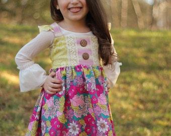 The Isabella Dress, boutique Girls dress, spring dress, Easter dress, toddler vintage
