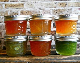Citrus Flavored Marmalade Sampler Box - Six Assorted Marmalade Flavors - Jam Gift Basket - Jelly Gift Box - Jelly Sampler Box - Hostess Gift