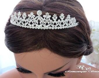 Wedding tiara, Rhinestone bridal headpiece tiara, Wedding headpiece, Crystal rhinestone tiara, Wedding hair accessories 3155