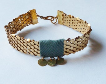 Cotton blue ernst bracelet