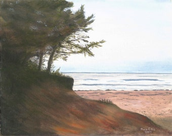 Oil Painting - Dusk at Twin Shores