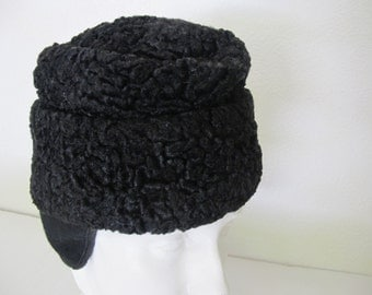 Persian Lamb Cap Fur Hat 1950 Fur Cap Winter Cap