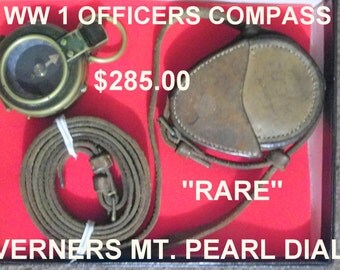 WW 1 OFFICERS COMPASS vERNERS mT pEARL dIAL  sUPER dOOPER rARE