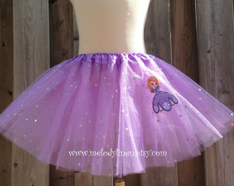 Sophia the 1st tutu lavender hair clip Sophia the first birthday outfit Lavender Sophia costume sophia patch lavender tutu Sophia outfit