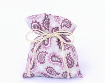 10 Favor Bags - the Summer Dreams - 10 Cotton Pouches - Decor Gift Bags - for Present Jewellry Wedding - Showers Baptism - Tie-string Bag
