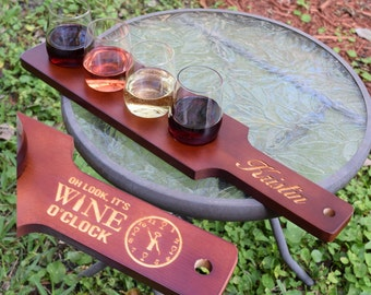 Funny Wine Gifts, Wine Flight, Funny Wine Sayings, Wine Lover Gift, Gifts for Mom, Unique Wine Gifts, Wine Tasting Set with 4 Glasses