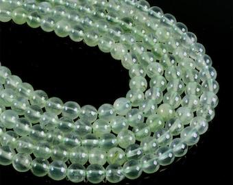 "6MM301 Green prehnite round ball loose gemstone beads 16"""