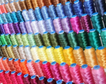 Machine Embroidery Polyester Thread Set 160 Colors, Jumbo 1000m Spools