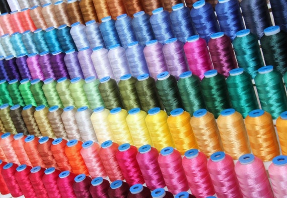 Items similar to Machine Embroidery Polyester Thread Set ...