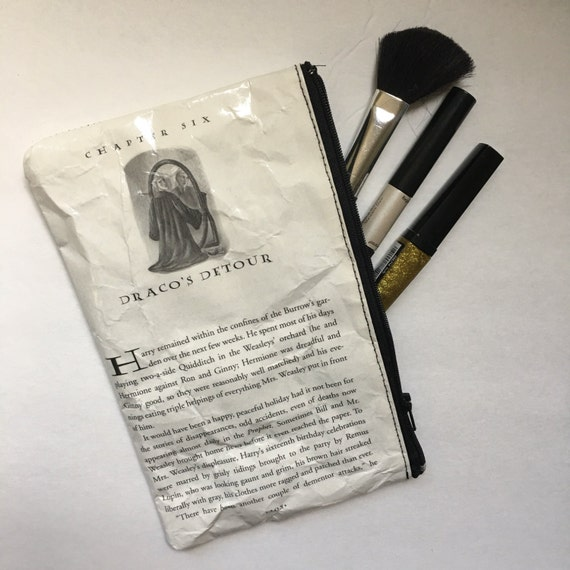 Harry Potter Book Themed Vinyl Pencil or Make-Up Pouch - Draco's Detour