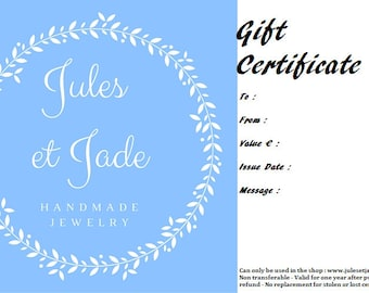 Gift certificates, gift cards, last minute gift, mother's day gift certificate, gift for her sister him dad brother, long distance present