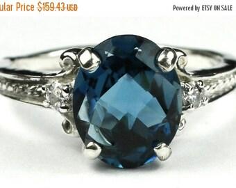 Summer Sale, 30% Off, SR136, London Blue Topaz, 925 Sterling Silver Ring