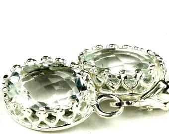 Summer Sale, 30% Off, SE109, 10x8mm Green Amethyst (Prasiolite), 925 Sterling Silver Crown Bezel Leverback Earrings