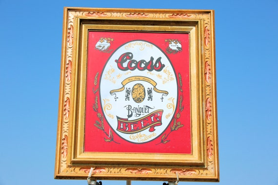 Collectable Sign Vintage Bar Beer Mirror Adolph Coors Golden