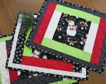 Snowman Place-mats & Table Runner
