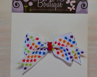 Boutique Style Hair Bow - Bright Stars