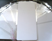 50 x Large White Plain Earring Necklace Display Cards & Self Adhesive Bags(19.5cm)