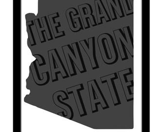 Arizona The Grand Canyon State Digital Print