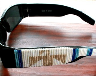 BOHO Native American inspired - OOAK - Southwest style Beaded Sunglasses - Eyewear