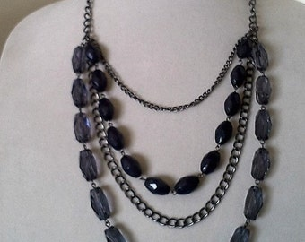 Blue Fancy Multi Necklace