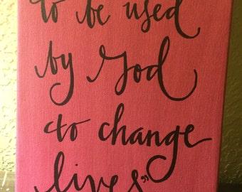 Change the World Canvas