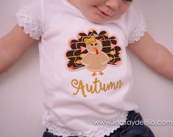 Turkey Shirt for Baby, Toddlers & Girls – Sizes Newborn to Youth XL
