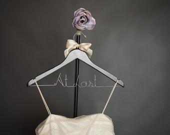 CYBER SALE Wedding Hanger Bride Bridesmaid Personalized