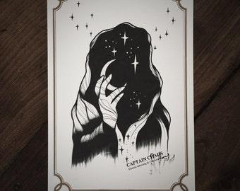 LIMITED Black Magic - Tattoo print 50/50 signed