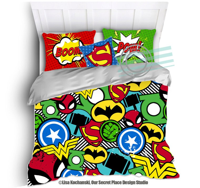 Superhero Bedding For Boys Bedding Twin By Oursecretplace