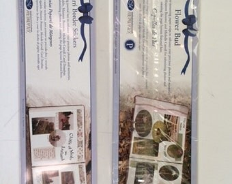 Creative Memories Flower Bud Photo Mounting Strips and Potpourri Border Stickers, 2 Unopened Packages, Scrapbooking Destash