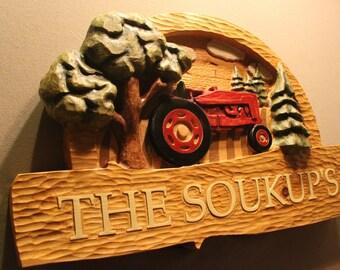 CUSTOM FARM SIGNS | Custom carved wooden signs | custom wood signs | Home Signs | Tractor Signs | Handmade Signs | Rustic Signs | Farmer