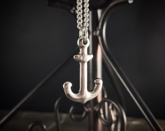 Stainless Steel Nautical Sailor ANCHOR Charm Pendant Necklace