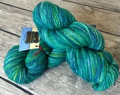 To Live Will Be An Awfully Big Adventure - Hand Dyed Reclaimed Yarn - Sport Weight Yarn