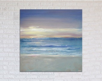"Ocean Painting Fine Art Print of Original Oil // ""Luminescent"""