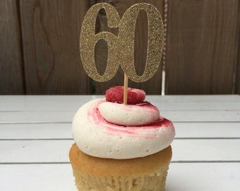 60th Cupcake toppers, 60th birthday decorations, sixty cupcake toppers, 60th birthday decorations, birthday cupcake toppers, cupcakes, 60