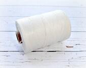 4 ply Irish Waxed Linen Cord White - 1 Yard