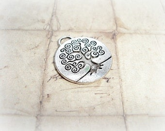 Antique Silver Tree Of Life Pendant Charm