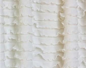 """Soft Eggshell Ruffle Fabric 1 yd + 2"""""""