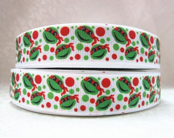 """7/8"""" wide 15 yards Raphael red Ninja turble ribbon/ Party favor/ decoration"""