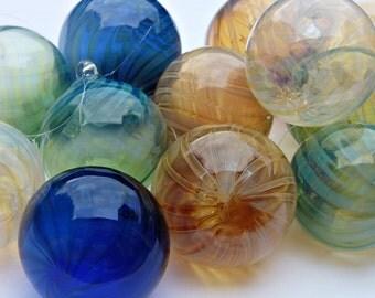 mix and match 5 hand blown glass christmas ornaments garden balls twist