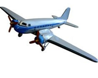 Silver Double Propeller Airline - Tin Toy